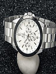 cheap -Men's Fashion Watch Quartz Silver Analog Casual - White Black Blue