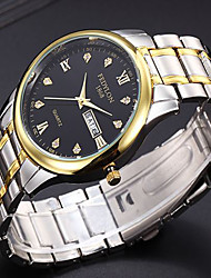 cheap -Men's Fashion Watch Quartz White / Gold 30 m / Analog Casual - Gold White