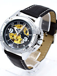cheap -Men's Fashion Watch Quartz Leather Black Analog Casual - Gold / White Black / Silver White / Silver