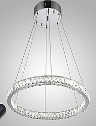 cheap -Crystal Pendant Light Chandelier Ambient Light Electroplated Metal Crystal, Dimmable, LED 110-120V 220-240V LED Light Source Included LED Integrated