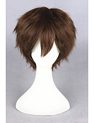 cheap -Synthetic Wig Cosplay Wig Straight Straight Wig Short Brown Synthetic Hair Women's Brown