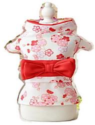 cheap -Dog Tuxedo Dog Clothes Flower Pink Black Light Green Silk Fabric Costume For Summer Women's Cosplay Birthday Wedding