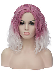 cheap -Synthetic Wig Natural Wave Natural Wave Bob Wig Pink Short Purple Synthetic Hair Women's Ombre Hair Side Part Pink