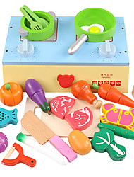 cheap -Toy Kitchen Set Toy Food / Play Food Cutting Play Food Vegetables Magnetic Plastic Kid's Girls' Toy Gift 22 pcs