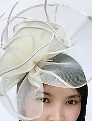 cheap -Feather / Net Fascinators / Headwear / Birdcage Veils with Floral 1pc Wedding / Special Occasion / Horse Race Headpiece