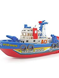 Недорогие -Наборы для моделирования Звук Фосфоресцирующий Электрический Военные корабли Корабль пластик Детские Взрослые Игрушки Подарок