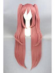 Недорогие -Парики из искусственных волос / Маскарадные парики Прямой Kardashian Стиль С конским хвостом Без шапочки-основы Парик Розовый Розовый Искусственные волосы Жен. Розовый Парик Длинные