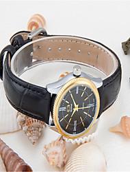 cheap -Women's Fashion Watch Quartz Leather Black Analog Casual - White Black