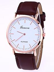 cheap -Women's Wrist Watch Quartz Leather Black / Brown Casual Watch Analog Ladies Casual Fashion - Black Brown One Year Battery Life / Tianqiu 377