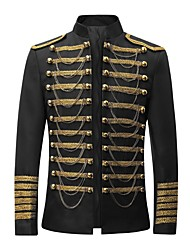 cheap -Prince Rococo Medieval 18th Century Napoleon Jacket Cosplay Costume Blazer Jacket & Pants Tuxedo Suits & Blazers Men's 3-Piece Lace Costume Red / Black Vintage Cosplay Party Prom / Top / Coat / Coat