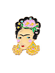 cheap -Women's Boys' Girls' Brooches Friends Unique Design Fashion Cute Brooch Jewelry Gold For Wedding Party Special Occasion Daily Casual