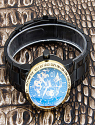 cheap -Men's Fashion Watch Quartz Black Analog Casual - Gold Black / Gold Black / Silver