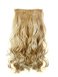 cheap -Curly Wavy Classic Synthetic Hair 22 inch Hair Extension Clip In Synthetic Women's Women Daily