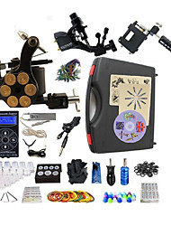 cheap -BaseKey Professional Tattoo Kit Tattoo Machine - 3 pcs Tattoo Machines LED power supply 1 steel machine liner & shader / 2 alloy machine liner & shader / Case Included