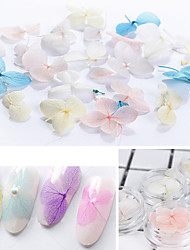 cheap -5 3pcs box colorful dried flower 3d nail decoration preserved flower manicure nail art decoration