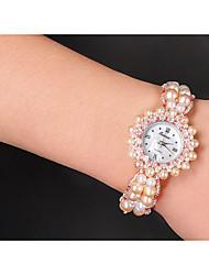 cheap -Women's Fashion Watch Quartz Pearl Pink Analog Pink