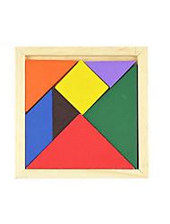 abordables -Tangram Puzzle Puzzles en bois A Faire Soi-Même Classique Garçon Fille Jouet Cadeau