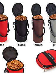 cheap -Cat / Dog Bowls & Water Bottles Pet Bowls & Feeding Portable / Foldable Gray / Coffee / Red