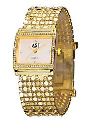 cheap -ASJ Women's Ladies Luxury Watches Bracelet Watch Gold Watch Japanese Gold Imitation Diamond Analog Luxury Sparkle Fashion Elegant - White Black