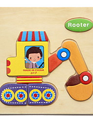 abordables -Carte d'Apprentissage Puzzle Puzzles en bois Jeux Avec Pions en Bois Jouet Educatif Animaux A Faire Soi-Même Amusement Classique Dessin