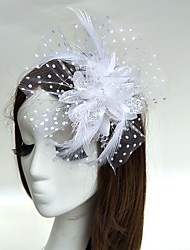 cheap -Feather Fascinators / Flowers / Hats with 1 Wedding / Special Occasion Headpiece