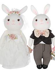 abordables -Rabbit Robe de mariée Animaux en Peluche Mignon Garçon Fille Jouet Cadeau 2 pcs