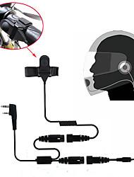cheap -Motorcycle Full Face Helmet Headset Earpiece for Two Way Radio Walkie Talkie 365 Baofeng Wanhua