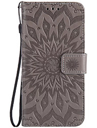 cheap -Case For LG K8 / LG / LG G5 LG X Power / LG V20 / LG V10 Wallet / Card Holder / Flip Full Body Cases Flower Hard PU Leather / LG K10
