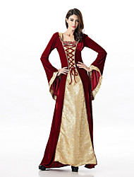 cheap -Princess Queen Cosplay Costume Women's Halloween Carnival New Year Festival / Holiday Terylene Women's Carnival Costumes Solid Colored