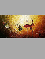 cheap -Oil Painting Hand Painted - Abstract / Still Life Classic / European Style Canvas