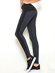 abordables -Femme Des sports Hiver Leggings Bas Yoga Course / Running Compression Mode Noir+Gris