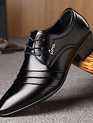 cheap -Men's Oxfords Dress Shoes Derby Shoes Business / Classic Daily Office & Career Walking Shoes Microfiber Wear Proof Black Slogan Spring / Fall / EU40