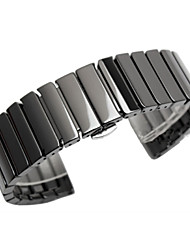 cheap -Watch Band for Gear S3 Frontier / Gear S3 Classic Samsung Galaxy Butterfly Buckle Metal / Ceramic Wrist Strap