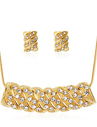 cheap -Women's Jewelry Set Classic Fashion Rhinestone Gold Plated Earrings Jewelry Gold For Party Gift Daily Office & Career
