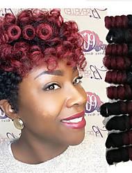 cheap -Bouncy Curl Saniya Curl Twist Braids Curlkalon Hair Ombre Synthetic Hair Braids 10-20 inch Braiding Hair 20 Roots / Pack