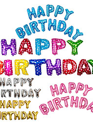 cheap -13Pcs/Set 16Inch Happy Birthday Alphabet Letter Balloons Multi Color Foil Balloons Party