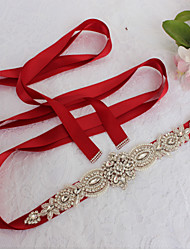 cheap -Satin Wedding / Party / Evening / Dailywear Sash With Rhinestone / Imitation Pearl / Beading Sashes