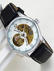 cheap -Men's Fashion Watch Quartz Analog Black / Gold Gold / White Black / Silver / Leather