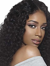 cheap -Synthetic Wig Water Wave Curly Middle Part Wig Long Natural Black Synthetic Hair 24 inch Women's Natural Hairline Middle Part African American Wig Black