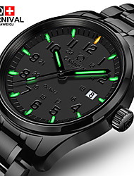 cheap -Carnival Men's Wrist Watch Quartz Stainless Steel Black 30 m Casual Watch Analog Luxury Classic Fashion Aristo Simple watch - Black Black+Green White+Blue