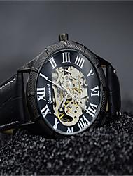 cheap -Men's Fashion Watch Quartz Leather Black / Brown Analog Casual - Black / White Rose Gold Rose Gold / White
