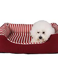 cheap -Cat Dog Mattress Pad Bed Sofa Cushion Bed Blankets Lounge Sofa Mats & Pads Plush Soft Stripes Black Red