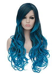 cheap -the european and american fashion daily blue gradient long wig party cos 1400 Halloween