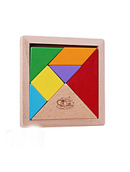 cheap -Tangram Jigsaw Puzzle Wooden Puzzle Large Size 1 pcs Kid's Toy Gift
