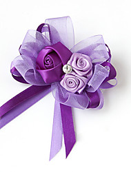 """cheap -Wedding Flowers Boutonnieres Wedding / Party / Evening Satin 5.51""""(Approx.14cm)"""