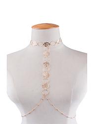 Недорогие -Цепь Тела / Belly Chain Мода Жен. Украшения для тела Назначение Для вечеринок Особые случаи Медь Цветы Золотой Серебряный