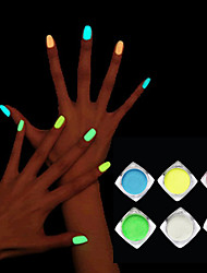 cheap -1box nail glitter luminous nail polish high brightness powder fluorescent paint phototherapy nail art
