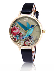 cheap -Women's Wrist Watch Quartz Quilted PU Leather Black / White / Blue Casual Watch Cool Analog Ladies Flower Casual Fashion - Green Blue Pink One Year Battery Life / Tianqiu 377