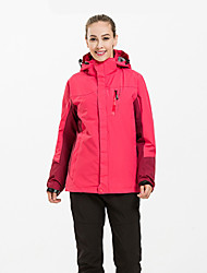 cheap -Women's Hiking 3-in-1 Jackets Outdoor Thermal / Warm Breathable 3-in-1 Jacket Top Camping / Hiking Hunting Climbing Red Peach / Blue / Red / Dark Navy / LightBlue
