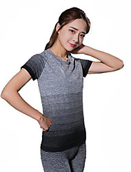 cheap -Women's Solid Colored Cotton Yoga Running Top Short Sleeve Activewear Breathable Ultra Light Fabric Sweat-wicking Comfortable High Elasticity